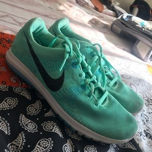 Mint Nike running shoes